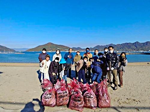 画像 海岸ごみ清掃&みかん狩り・ミニコンサートを開催しました! 令和2年12月6日(日)