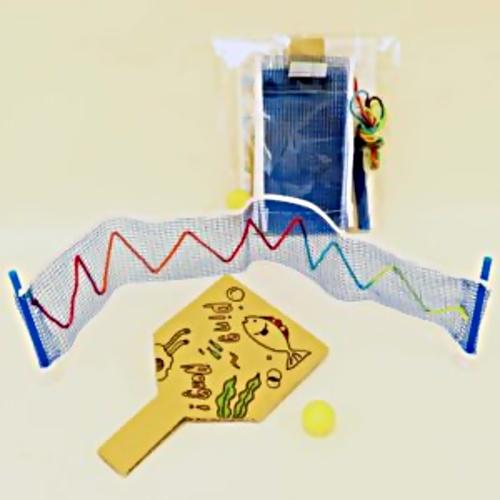 浜田市世界こども美術館 ホリデー創作活動「ミニ卓球キットであそぼう」